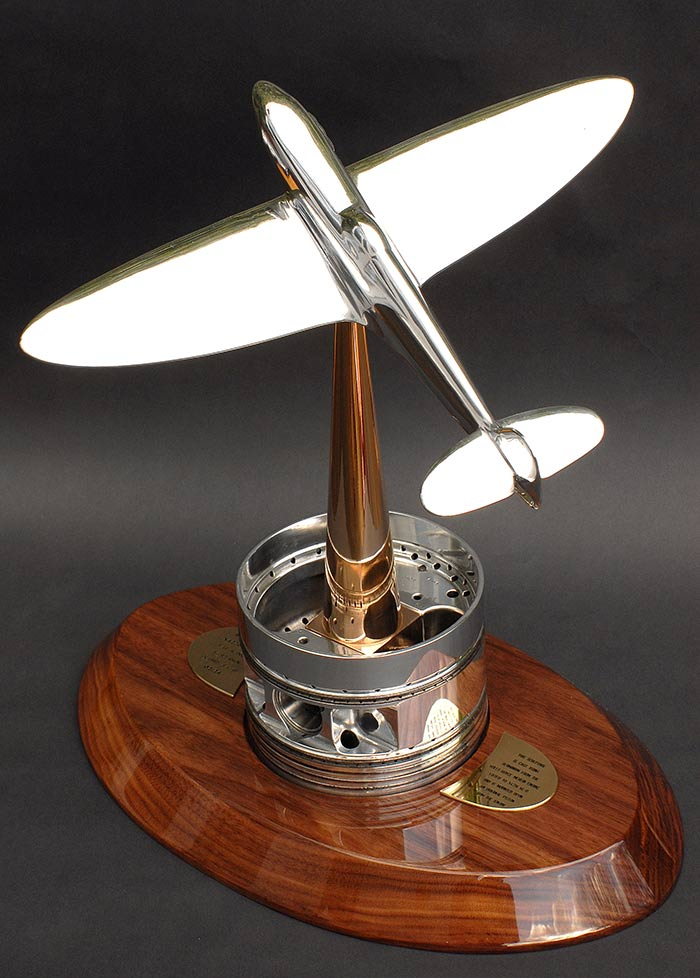 """TMB Art Metal Spitfire X4276 14"""" Sculpture"""