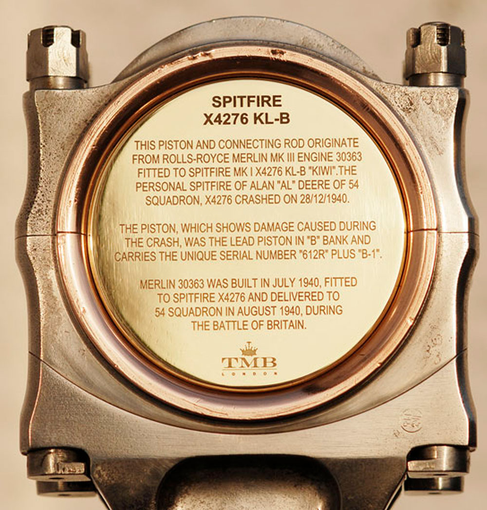 TMB Art Metal Spitfire X4276 Piston Clock
