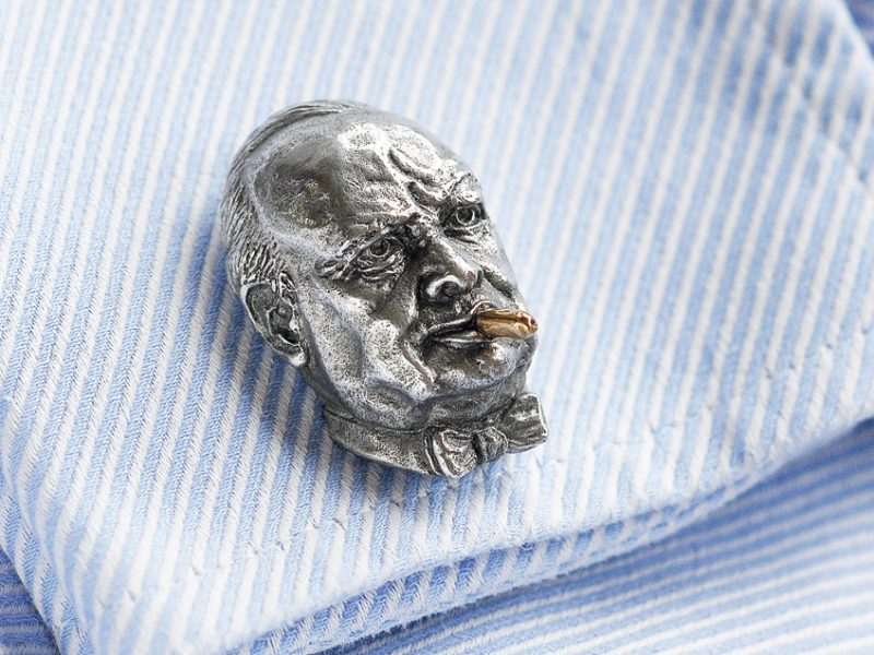Churchill Aluminium Cufflinks - cuff